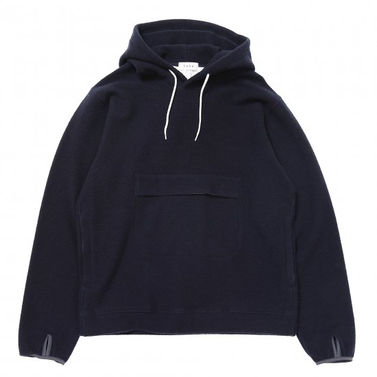 イメージ:TONE HOODED WOOL SWEAT(NAVY)