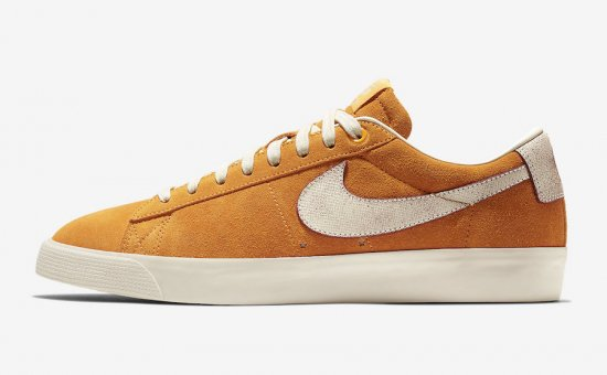 "イメージ:NIKE SB BLAZER LOW GT QS ""Home State Georgia""(CIRCUIT ORANGE/NATURAL)716890-816"