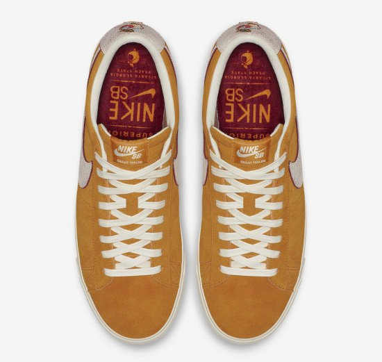 "イメージ:NIKE SB BLAZER LOW GT QS ""Home State Georgia""(CIRCUIT ORANGE/NATURAL)716890-8162"