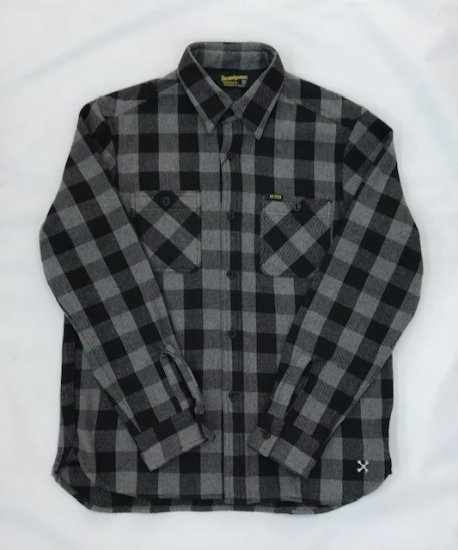 イメージ:BLUCO -HEAVY NEL SHIRTS(OL-048-019)(COLOR:GRAY)