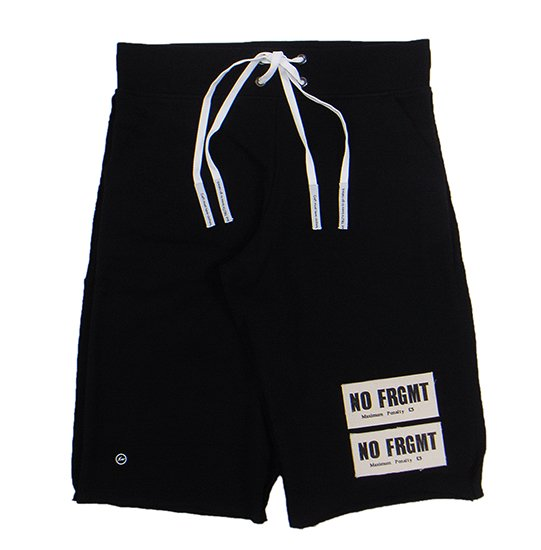 イメージ:AKA SIX×FRAGMENT DESIGN-NO FRGMT PATCH JUMP SHORTS (COLOR:BLACK)