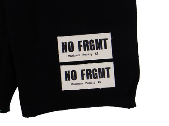 イメージ:AKA SIX×FRAGMENT DESIGN-NO FRGMT PATCH JUMP SHORTS (COLOR:BLACK)2