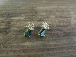 Small Green Pierced Earring