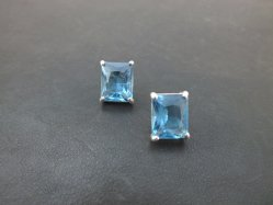 Light Blue Pierced Earring