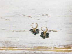 Tiny Green Pierced Earring