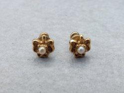 Tiny Clover Pierced Earring