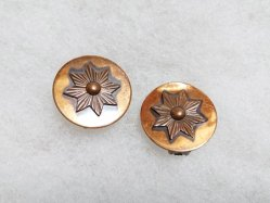 Circle Bronze Color Earring