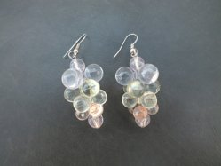 Clear Grape Pierced Earring