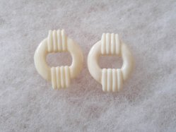Casual Ivory Pierced Earring