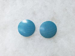 Natural Blue Pierced Earring