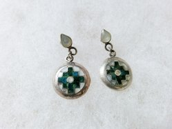 Mexican Pattern Pierced Earring