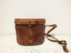 1920s Leather Box Bag
