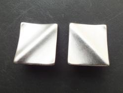 Silver Tone Square Earring