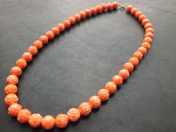 Rose Lucite Necklace
