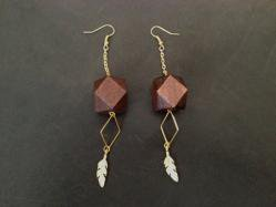 Chocolate Wood Pierced Earring