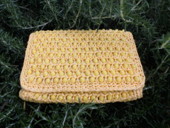 1950s Yellow Clutch Bag