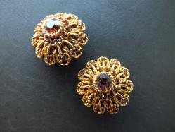 Brown Rhinestone Earring