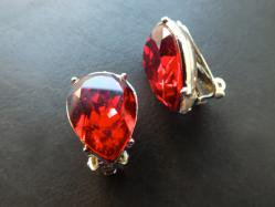 Red Rhinestone Earring