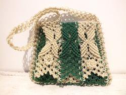 Green×Ivory Wired Bag