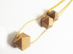 Beige Wood Necklace