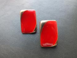 Retro Red Pierced Earring