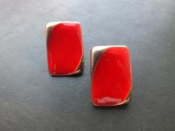 Retro Red Pierced Earring