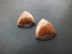 Brown Triangle Pierced Earring