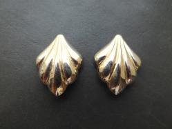 Gold Clip On Earring