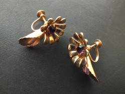 Flower+Rhinestone Earring