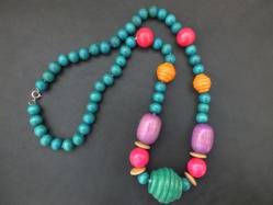 7 Colors Wooden Necklace