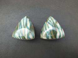 Green Zebra Earring