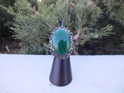 1960s Green Glass Ring