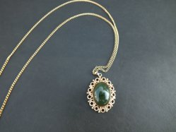 Oval Green Necklace