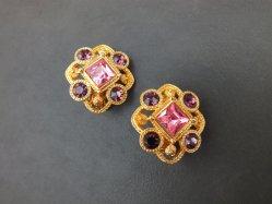 Pink×Purple Earring
