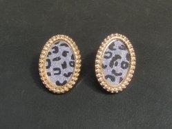 Glitter Leopard Pierced Earring