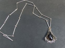Silver×Black Necklace