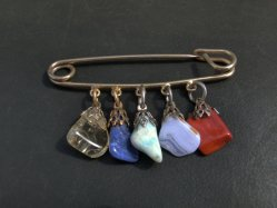 5 Stones Kilt Pin