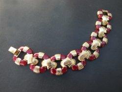 Gold×Wine Red Bracelet
