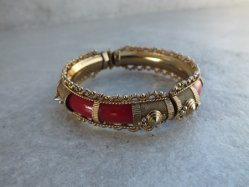 Gold×Wine Bangle