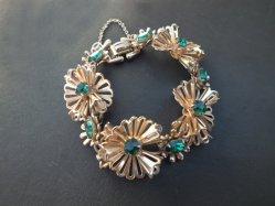 Gold×Green Stone Bracelet
