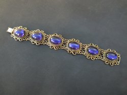 Oval Purple Parts Bracelet