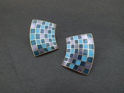 Unique Plaid Pierced Earring
