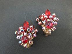 Red+Aurora Stones Earring