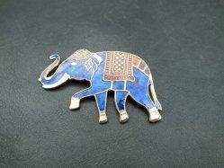 Blue Elephant Broach