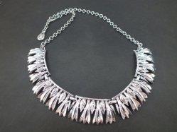 Sharp Silver Tone Necklace