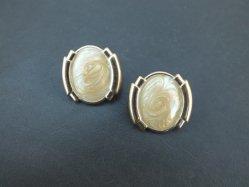 Yellow Cream Pierced Earring