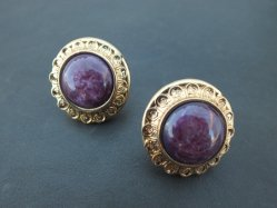 Marbled Violet Pierced Earring