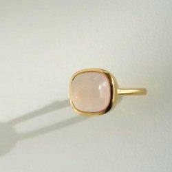 rosequartz anello(square)