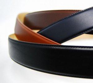 ベルト革のみ!35mm幅:無段階調整フリコベルト(ビジネスタイプ)イタリア製バックル用ベルト革