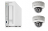 QNAP防犯カメラセット(NASレコーダー(3TB)+固定ドームカメラ2台) 小規模店舗や事務所用